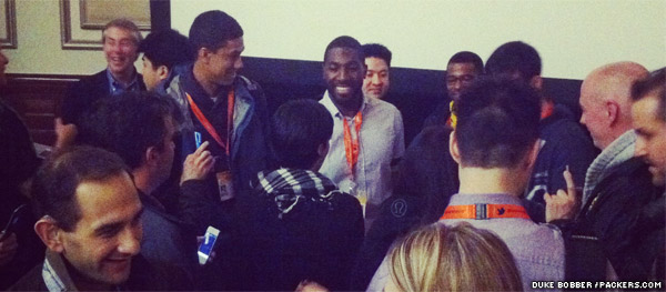 Packers wide receiver Greg Jennings at SXSW Interactive in Austin