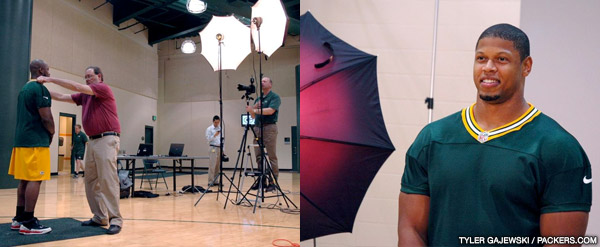 Packers rookies and coaches take 2012 headshots