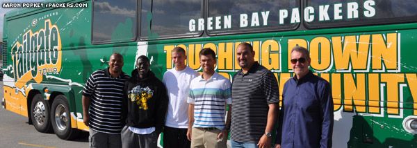 'Packers Tailgate Tour' bus