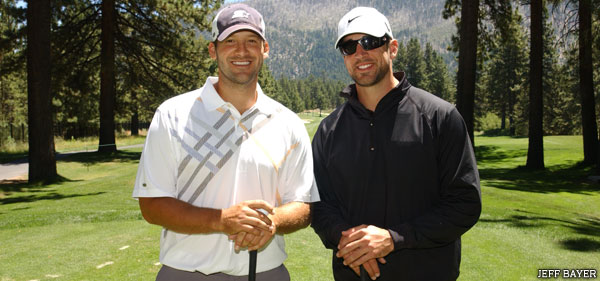 Tony Romo and Aaron Rodgers