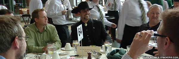 e82d7c49f4315 Packers again wear cowboy hats to Welcome Back Luncheon