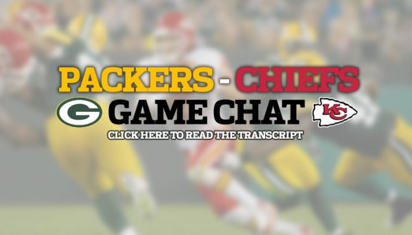 Packers-Chiefs game chat