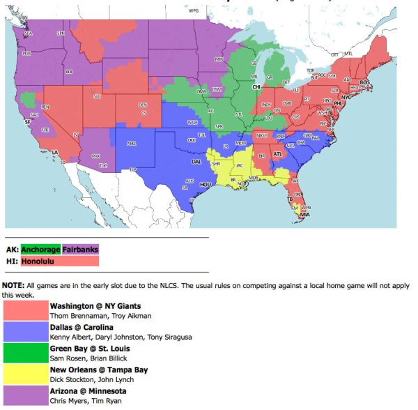 TV coverage map