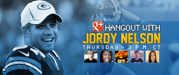 Green Bay Packers WR Jordy Nelson's Google+ Hangout