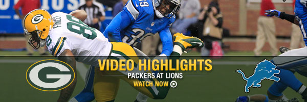 Video Highlights Packers at Lions