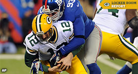 Giants' pass rush sacks Packers again