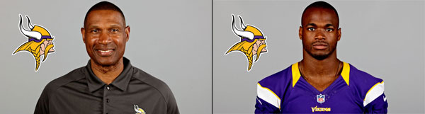 Minnesota Vikings Head Coach Leslie Frazier and RB Adrian Peterson spoke with Wisconsin media on Wednesday