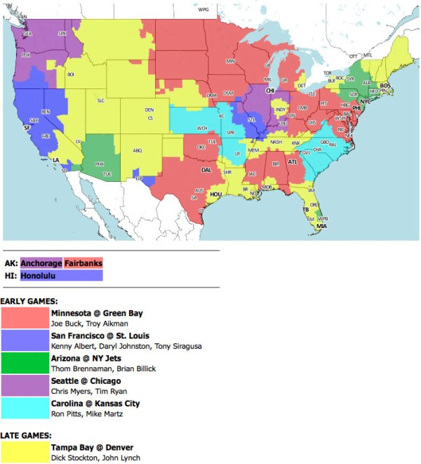 Green Bay Packers Official Blog Tv Coverage Map