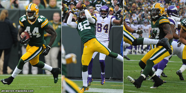 Packers S Morgan Burnett, RB James Starks and LB Jamari Lattimore earned game balls for their performance vs. the Minnesota Vikings in Week 13