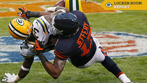 Cornerback Sam Shields makes a play in the endzone