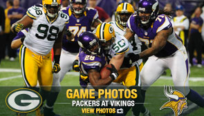 Packers at Vikings Game Photos