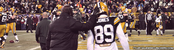 Packers wide receivers Donald Driver and James Jones