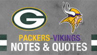 Packers-Vikings post-game notes & quotes