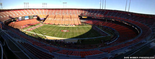 The view from the press box at San Francisco's Candlestick Park