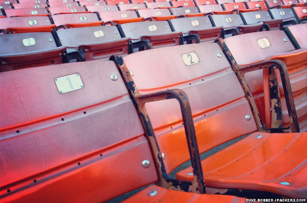 Seats in Candlestick Park before fans started filing in