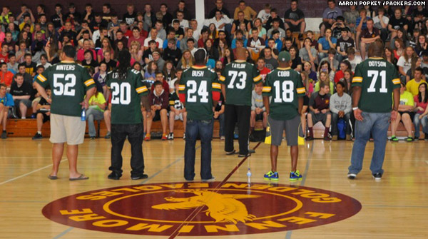 Back in Wisconsin, the Packers Tailgate Tour just finished a visit at Fennimore High School.