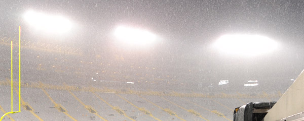 Rain in Lambeau Field