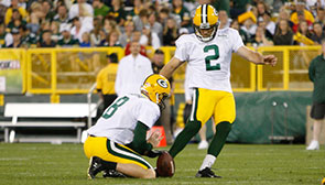 K Mason Crosby and P Tim Masthay