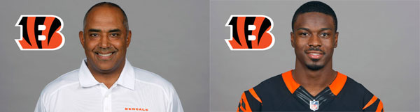 Cincinnati Bengals Head Coach Marvin Lewis and WR A.J. Green