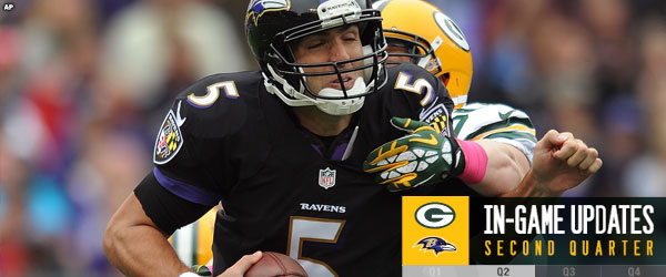 Ravens QB Joe Flacco sacked.