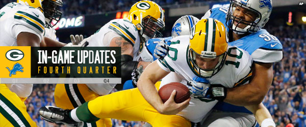 Packers quarterback Matt Flynn sacked