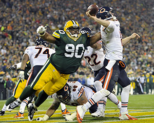 Packers defensive lineman B.J. Raji