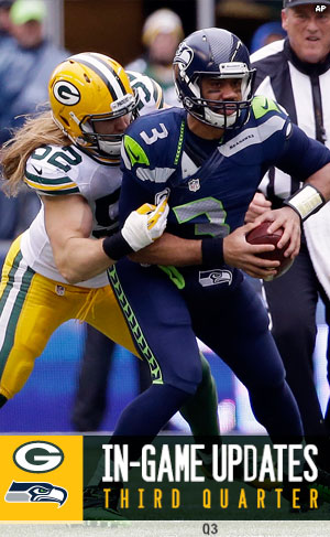 Packers LB Clay Matthews sack Seahawks QB Russell Wilson