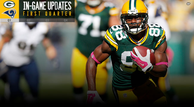 Rams News Now >> Green Bay Packers Official Blog News Now Packers Lead Rams 14
