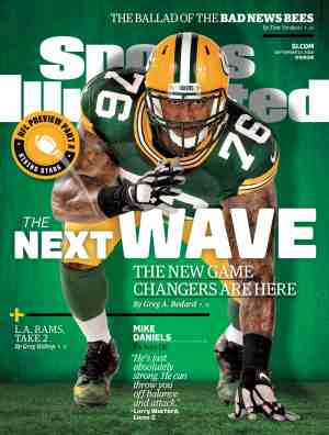 Sports Illustrated cover featuring Mike Daniels